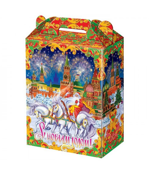 """Новогодний подарок с Магнитиком  """"Кремль"""" 700 гр."""