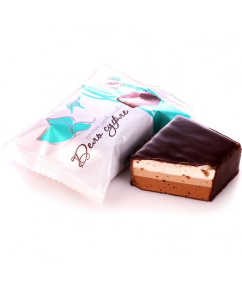 конфеты Дель суфле трёхслойные 100 гр.