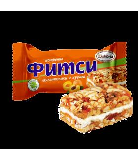 конфеты Фитси (Fitsy) мультизлаки и курага 100 гр.