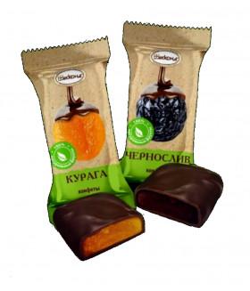 конфеты КУРАГА в шоколадной глазури 100 гр.