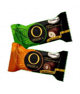 конфеты Орешка с цельным фундуком со вкусом Сливок 100 гр.