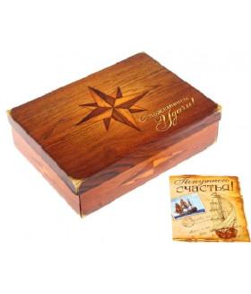 """Подарочная коробка и открытка """"С пожеланием удачи"""""""