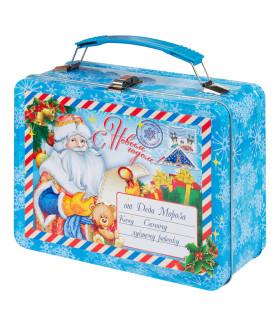 """Новогодний подарок с Магнитиком чемоданчик """"Бандеролька"""" 1000 гр."""