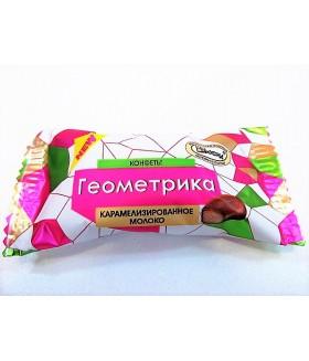 конфеты Геометрика карамелизированное молоко 100 гр.