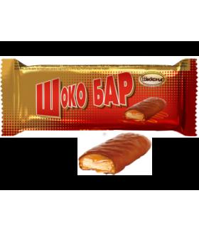 конфеты Шоко Бар с печеньем и арахисом