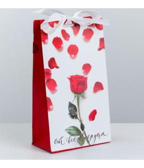 Упаковка подарочная с лентой «От всего сердца»