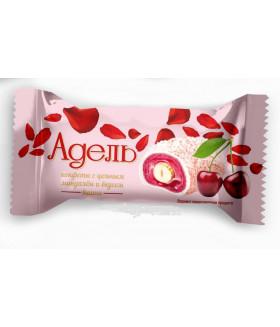 конфеты АДЕЛЬ с цельным миндалём и вкусом вишни 100 гр.