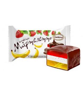 конфеты Мартелетто со вкусом клубника-банан-сливки 100 гр.