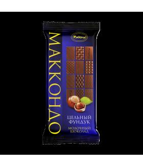 плиточный шоколад молочный с фундуком МАККОНДО 90 гр