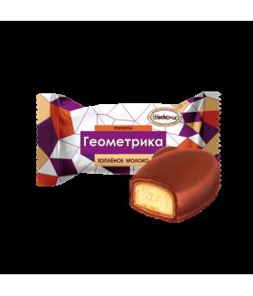 конфеты Геометрика топленое молоко 100 гр.