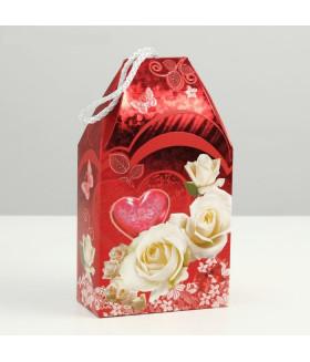 """Подарочная коробка """"Белые розы"""""""