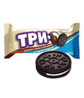 печенье ТРИО какао с начинкой вкуса Капучино 100 гр.