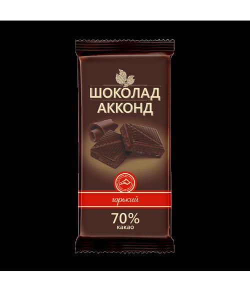плиточный шоколад горький АККОНД 90 гр