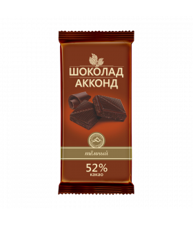 плиточный шоколад темный АККОНД 90 гр