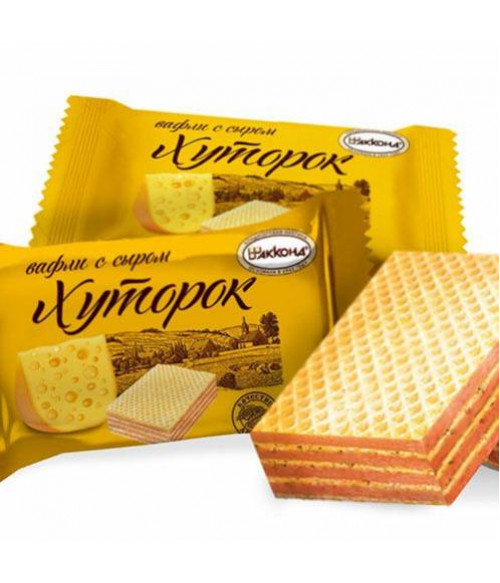 вафли Хуторок с сыром 100 гр.