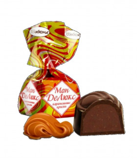 конфеты Монделюкс с карамельным криспи 100 гр