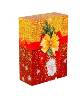 """Новогодний подарок """"Новогоднее сияние"""" ассорти конфеты 500 гр. и чай 50 гр."""