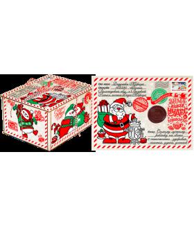 """Новогодний подарок с Магнитиком  """"Чаепитие с Дедом Морозом"""" 700 гр."""